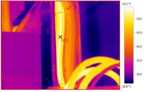 Monitorizatrea temperaturii traseelor de cablu